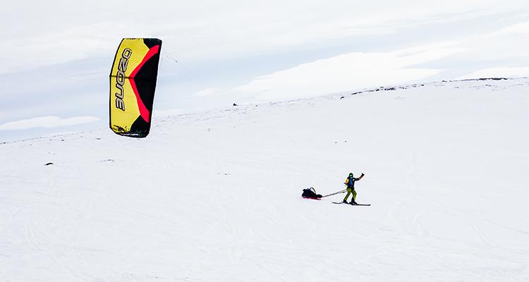 Snowkite - nauka snowkite'a w Kite Zone Norway