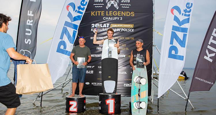 Klimek Liwski na podium zawodów Kite Legends